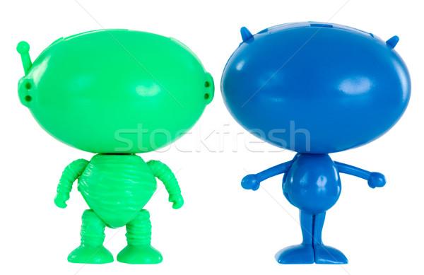 мало Существа пластиковых белый зеленый фото Сток-фото © pzaxe