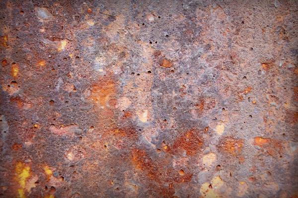 Irregolare superficie vecchio sporca arrugginito muro Foto d'archivio © pzaxe