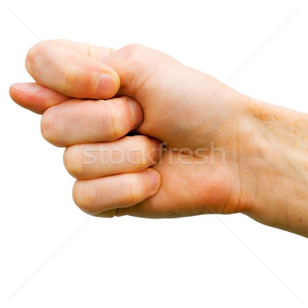 Vijg mannen hand show leuk man Stockfoto © pzaxe