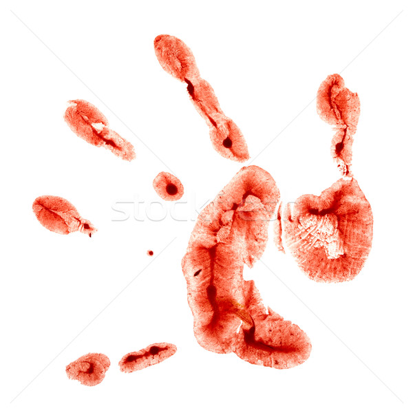 Print kinderachtig palm witte papier hand Stockfoto © pzaxe