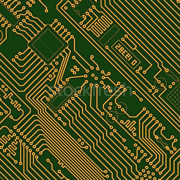 Foto d'archivio: Industriali · verde · elettronica · texture · computer