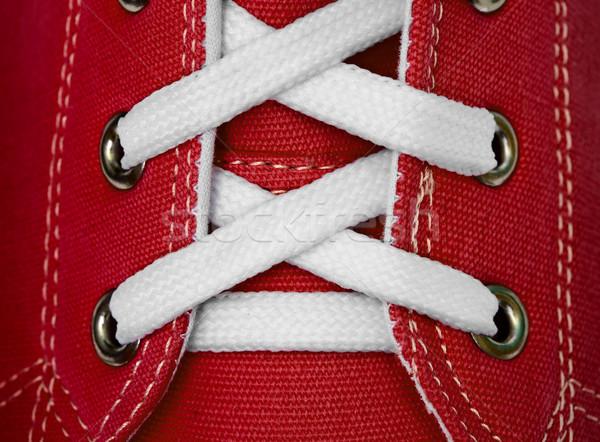 Biały koronki czerwony moda Zdjęcia stock © pzaxe