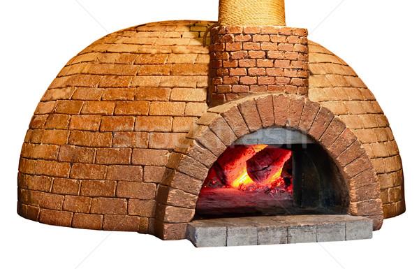 Eski ekmek fırın yalıtılmış beyaz tuğla Stok fotoğraf © pzaxe