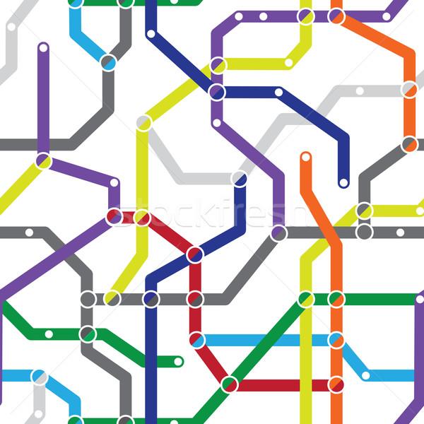 Abstract seamless pattern - metro scheme Stock photo © pzaxe