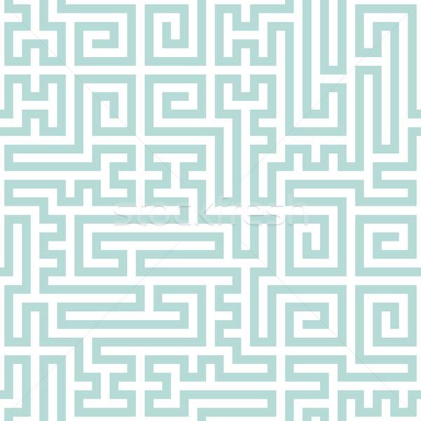 Soyut geometrik desen açık mavi hatları vektör Stok fotoğraf © pzaxe