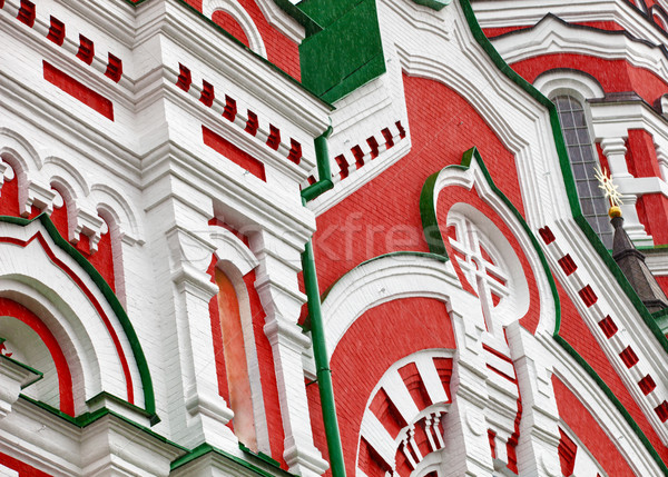 Foto stock: Paredes · ortodoxo · iglesia · fragmento · antigua · construcción