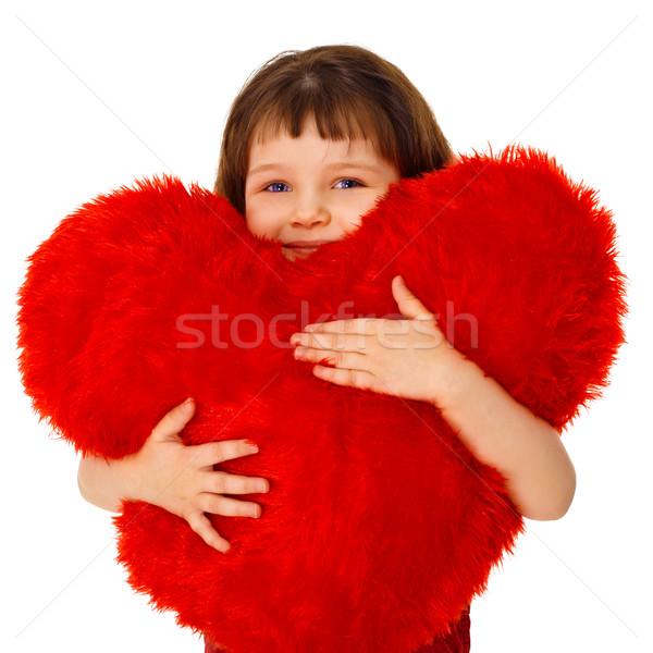 Bambina giocattolo cuore isolato Foto d'archivio © pzaxe