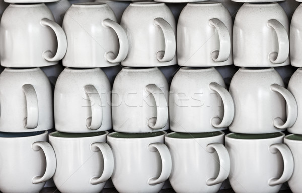 Ceramic cups on market stall Stock photo © pzaxe