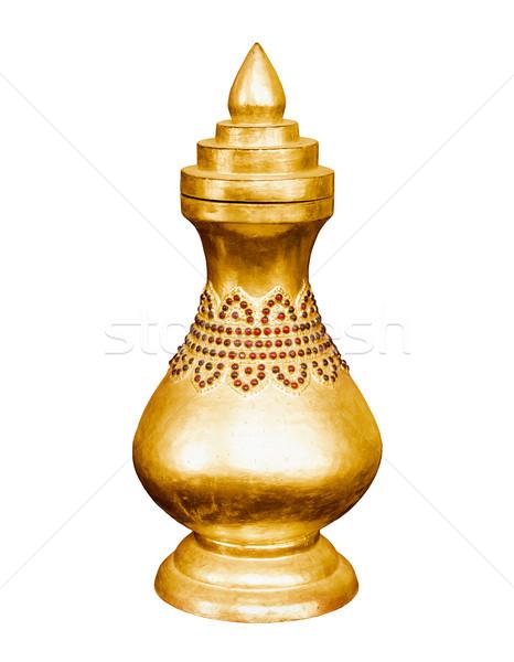Vintage golden vessel. Myanmar, Mandalay Stock photo © pzaxe