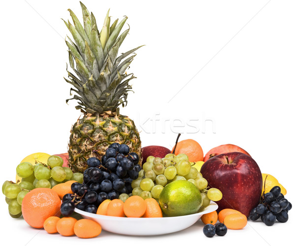 Still life of pineapple and other fruits Stock photo © pzaxe