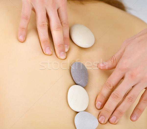 Cailloux spa santé massage Photo stock © pzaxe
