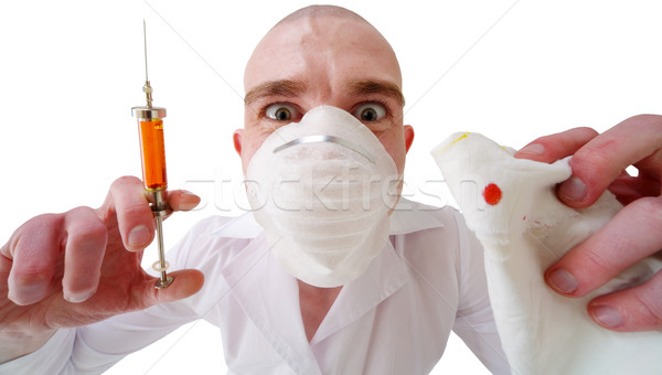 Man and syringe Stock photo © pzaxe