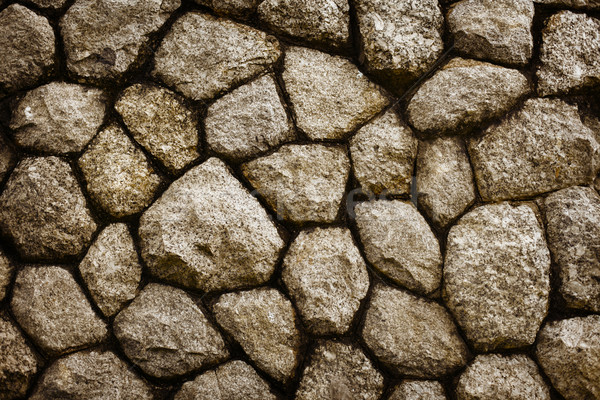 Rêche pierre maçonnerie vieux mur noir Photo stock © pzaxe