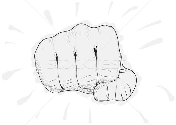 Vector eenvoudige tekening vuist witte eps8 Stockfoto © pzaxe