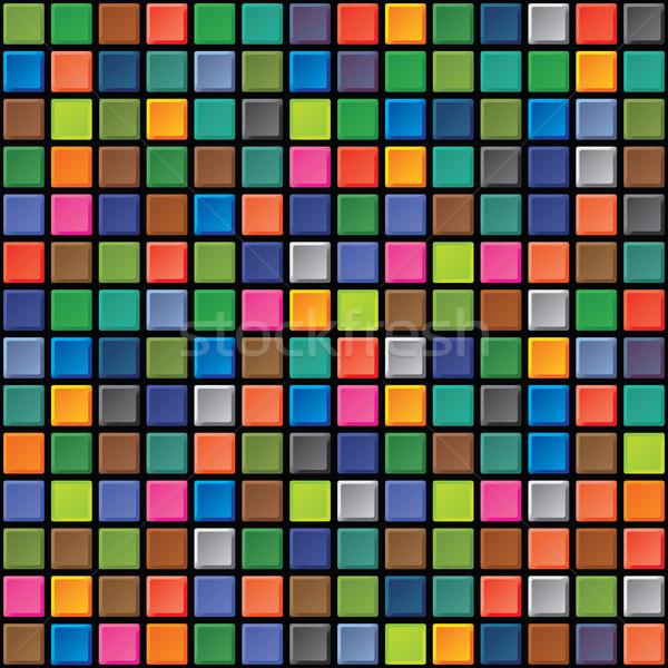 Seamless texture - iridescent tiles Stock photo © pzaxe
