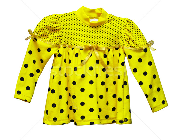 Yellow blouse with polka dots for baby Stock photo © pzaxe