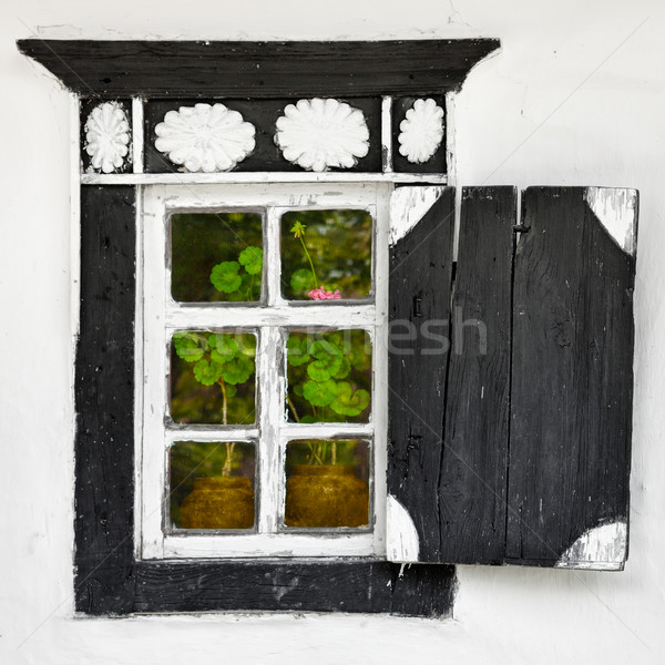 Old window - Ukrainian village style Stock photo © pzaxe