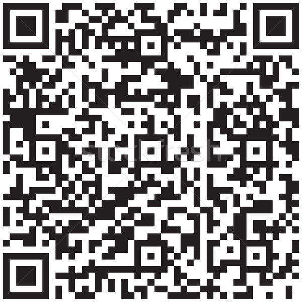 Electronic graphics code - qr barcode. Vector illustration. Stock photo © pzaxe