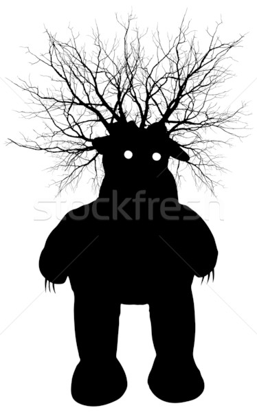 Swamp monster - vector silhouette Stock photo © pzaxe
