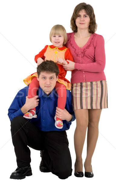 Aile çocuk beyaz çocuklar sevmek arka plan Stok fotoğraf © pzaxe