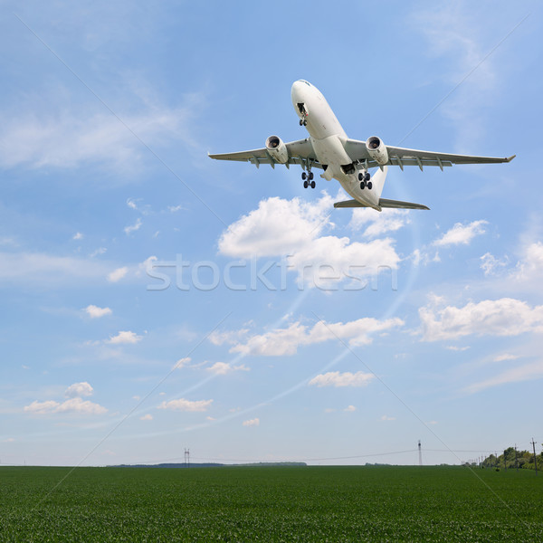 Passenger aircraft taking off Stock photo © pzaxe