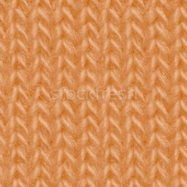 Geel gebreid weefsel garen naadloos Stockfoto © pzaxe