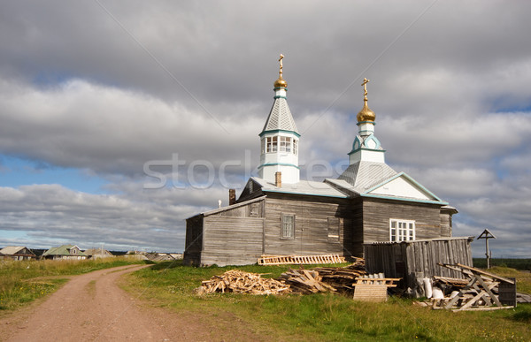 Ancient wooden church Stock photo © pzaxe