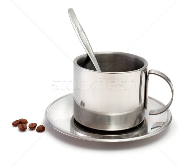 金属 コーヒーカップ スプーン コーヒー 穀類 白 ストックフォト © pzaxe