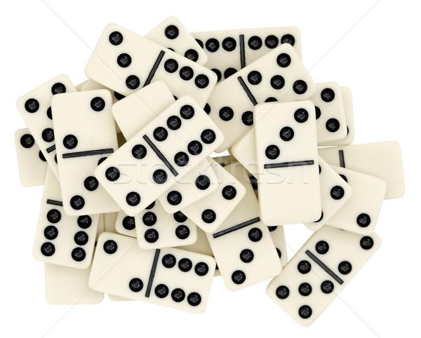 ビッグ 白 孤立した サイコロ ゲーム ストックフォト © pzaxe