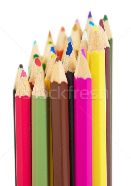 Set of colored wooden pencils Stock photo © pzaxe