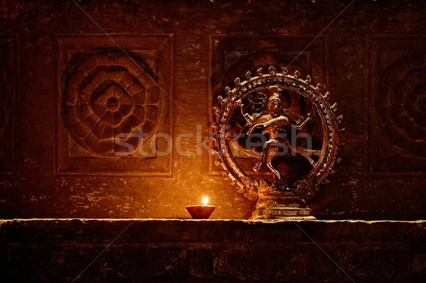 Tanrı shiva dans Hindistan dans duvar Stok fotoğraf © pzaxe