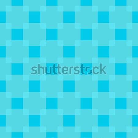 Vector pattern - geometric seamless simple light blue color mode Stock photo © pzaxe