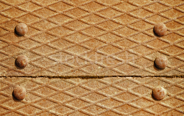 Background - iron deck with rivets Stock photo © pzaxe