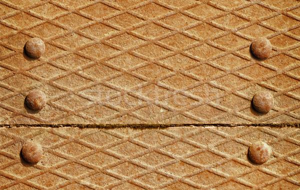 Ijzer dek oppervlak muur oranje stedelijke Stockfoto © pzaxe