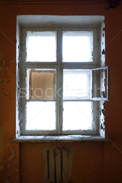 The closed old decayed window Stock photo © pzaxe