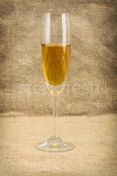 Goblet with white wine Stock photo © pzaxe