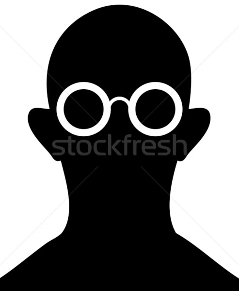 Silhouette of person with eyeglasses - vector Stock photo © pzaxe