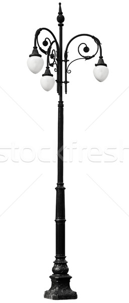 Victorian vintage lamp post isolated on white background Stock photo © pzaxe