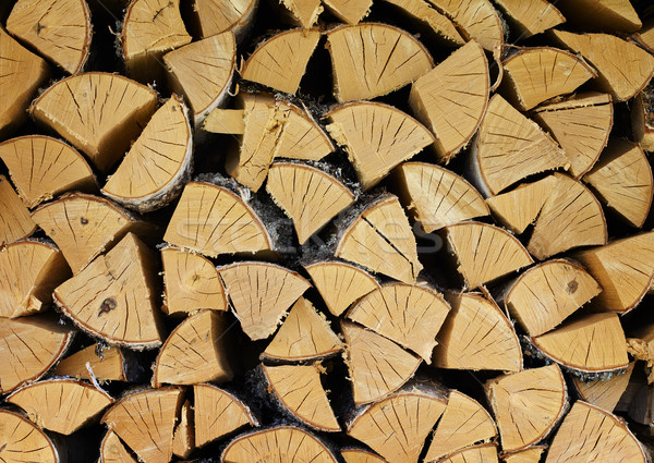 Pile of dry birch wood - background Stock photo © pzaxe