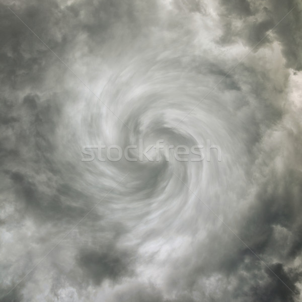 Twisting spiral sky with storm clouds Stock photo © pzaxe