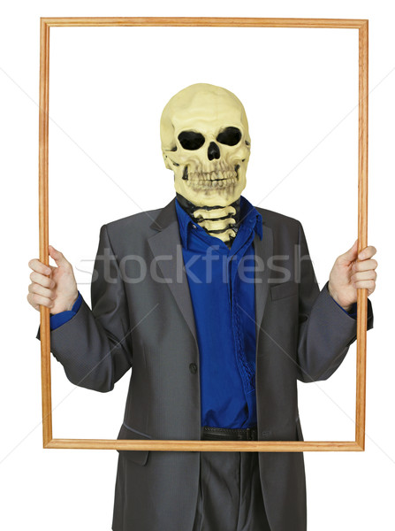 Masked man skeleton, placed himself in frame Stock photo © pzaxe