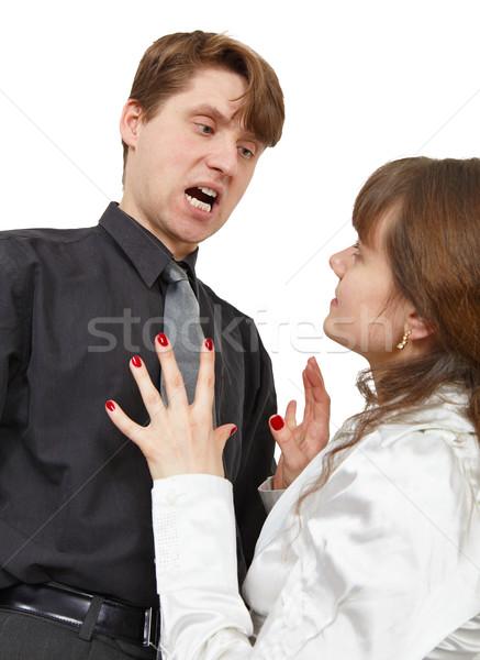 Man terribly shouts at young woman Stock photo © pzaxe