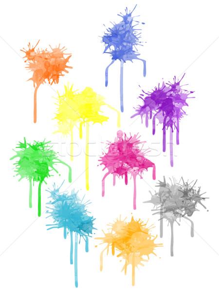 Vector color paint splat Stock photo © pzaxe