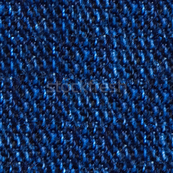Seamless, Illustrated Image of Blue Denim in Closeup Stock photo © pzaxe