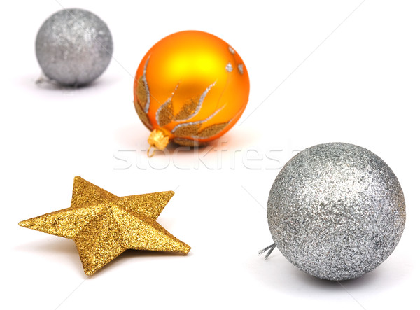 New-Year tree decorations on white Stock photo © pzaxe