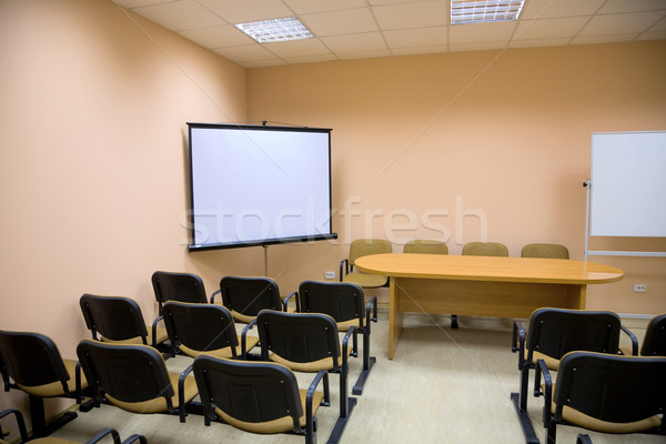Interior of a conference hall in pink tones Stock photo © pzaxe
