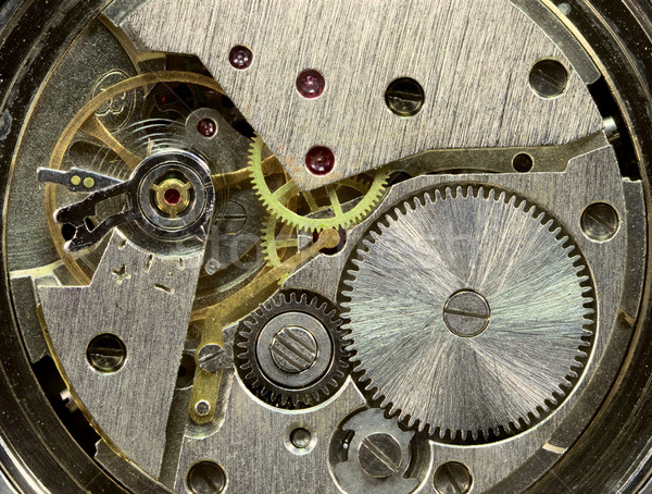 Macrophoto of old clockwork background Stock photo © pzaxe