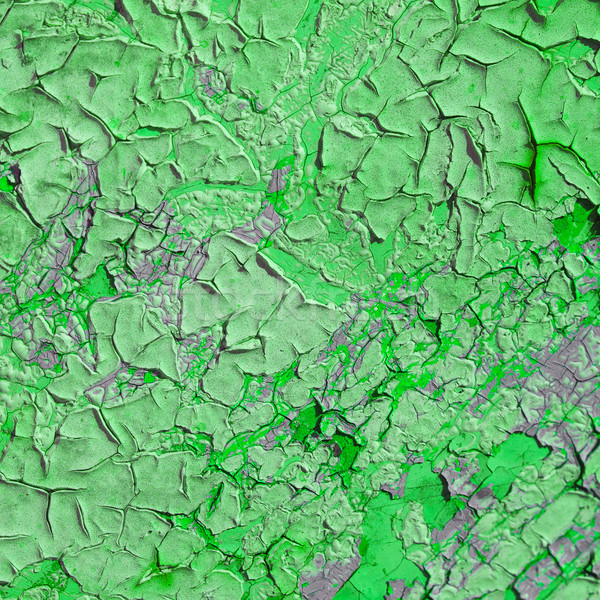 Duvar kapalı buruşuk boya yeşil doku Stok fotoğraf © pzaxe