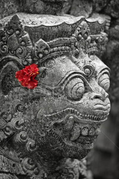 Old stone statue of Balinese god Stock photo © pzaxe