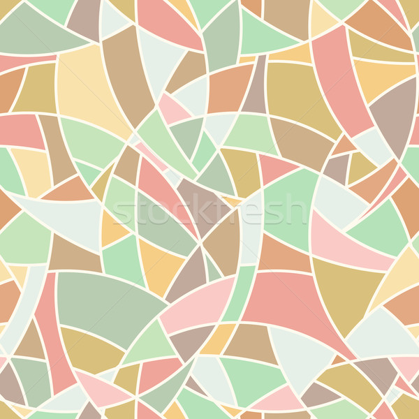Vector seamless pattern - abstract chaotical pastel color mosaic Stock photo © pzaxe